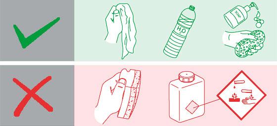 čištění baterií