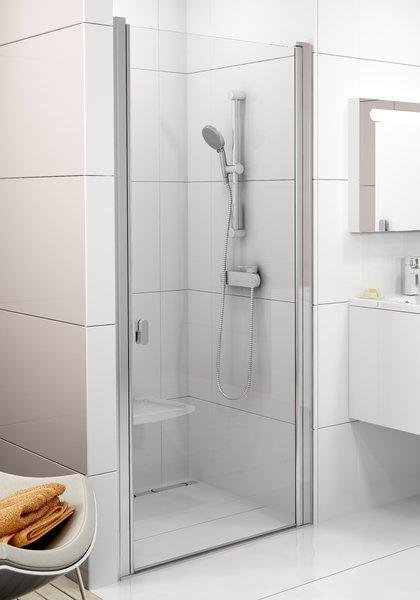 Sprchové dveře jednodílné CSD1-90 Transparent Ravak CHROME, bílá 0