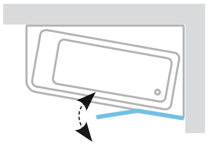 Vanová zástěna dvoudílná 10CVS2-100 R Transparent 10° Ravak pravá, satin 2