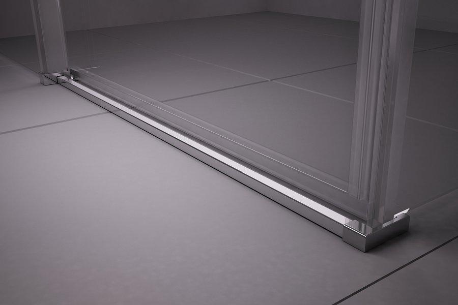 Sprchový kout čtyřdílný MSRV4-100/100 Transparent Ravak MATRIX, bílá