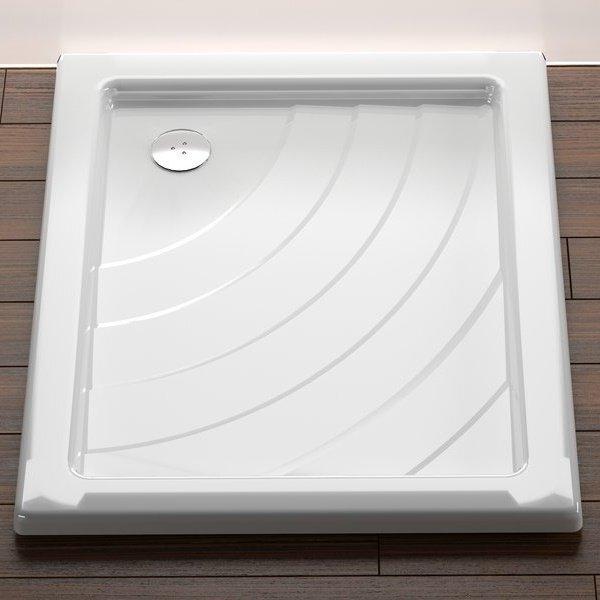 Sprchová vanička ANETA 75 x 90 EX Ravak KASKADA, bílá 0