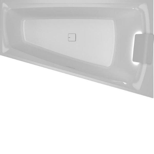 Vana asymetrická Riho STILL SMART LED 170x110, bílá 0