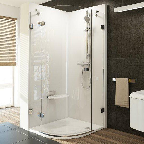Sprchový kout čtvrtkruhový třídílný BSKK3-100 L Ravak BRILLIANT 0