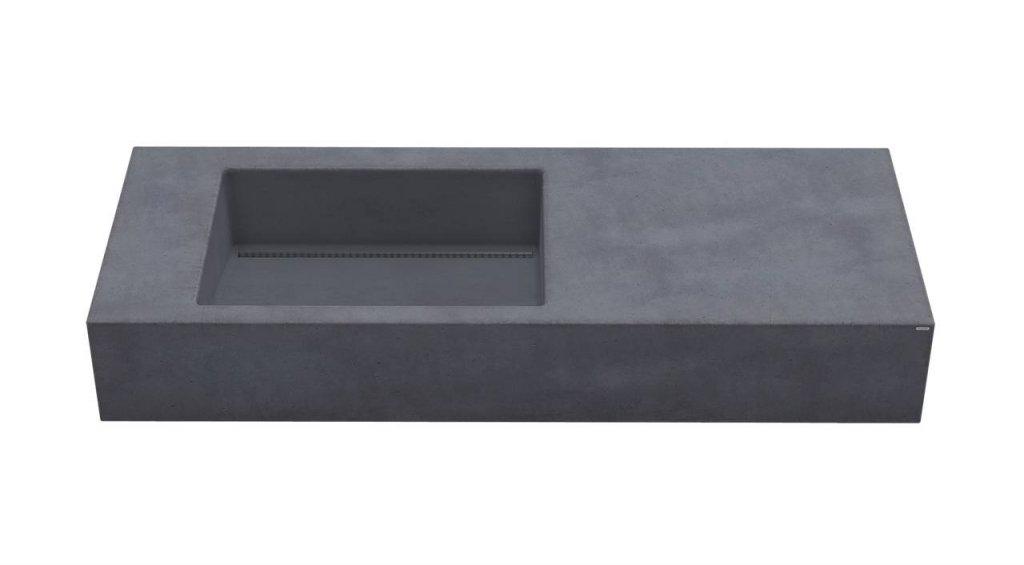 Gravelli umyvadlo SLANT 01 SINGLE antracit 120x45x13cm 1