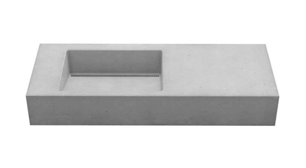 Gravelli umyvadlo SLANT 01 SINGLE šedá 120x45x13cm 1