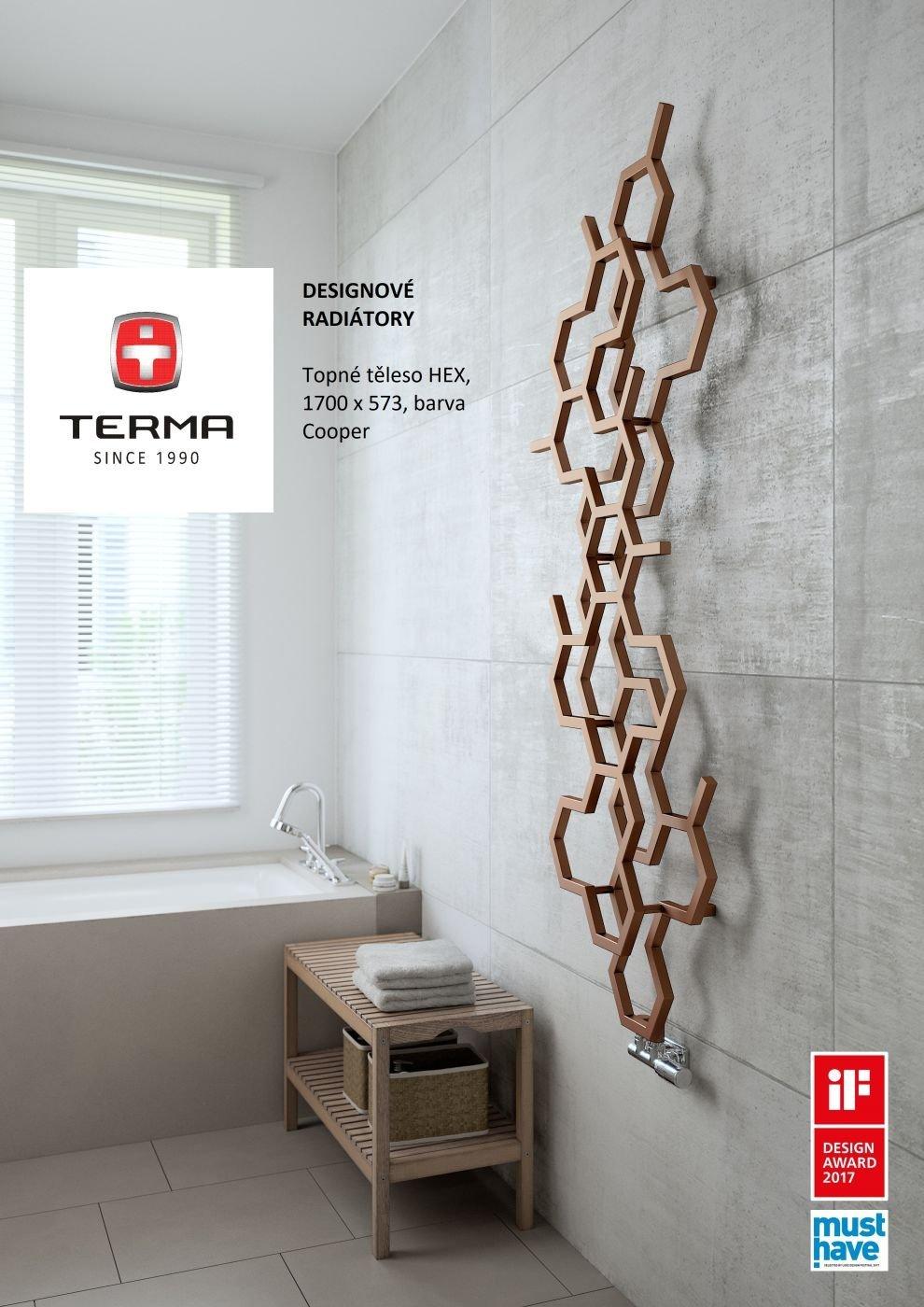 Designový radiátor Terma HEX 1