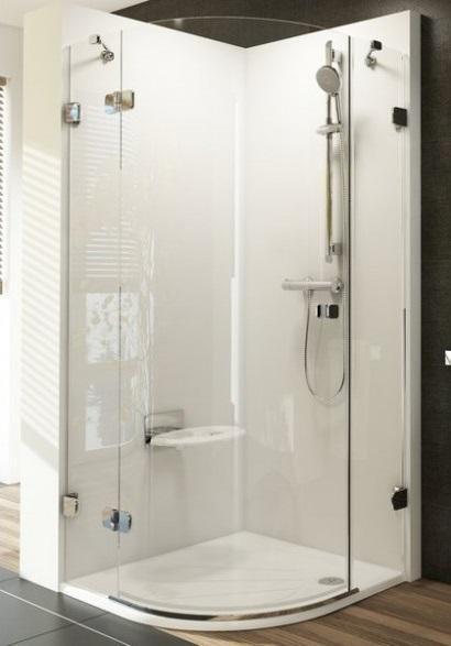 Sprchový kout čtvrtkruhový třídílný BSKK3-90 L Ravak BRILLIANT 0