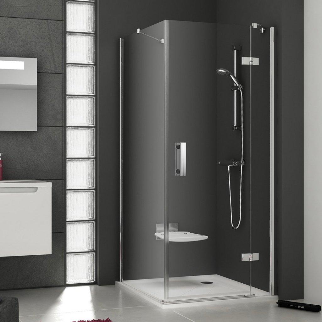 Pevná sprchová stěna pravá SMPS-100 R Transparent Ravak SMARTLine, chrom 0