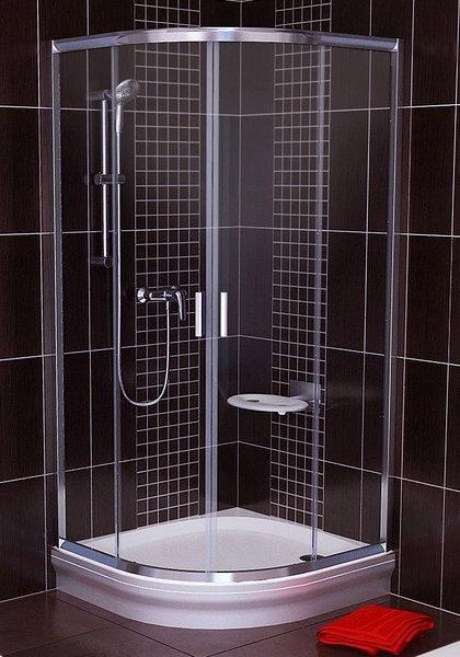 Sprchový kout čtvrtkruhový BLCP4-80 Transparent Ravak BLIX, lesk 2