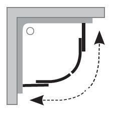 Sprchový kout čtvrtkruhový BLCP4-80 Transparent Ravak BLIX, satin 3