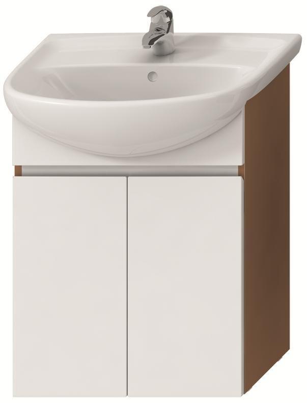 Skříňka pod umyvadlo 60 cm Jika LYRA s 2 dveřmi, třešeň/bílý lak 0