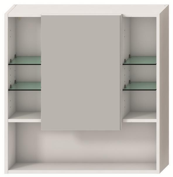Zrcadlová skříňka 80 x 77,5 cm Jika LYRA, bílá 0