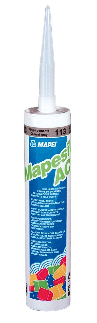 MAPESIL AC 113 Mapei spárovací těsnící hmota CEMENTOVĚ ŠEDÁ 310ml 0