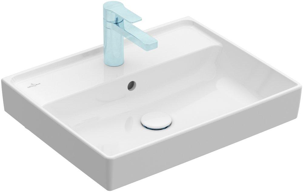 Umyvadlo na skříňku 65x47 cm V&B COLLARO, bílá Alpin 0