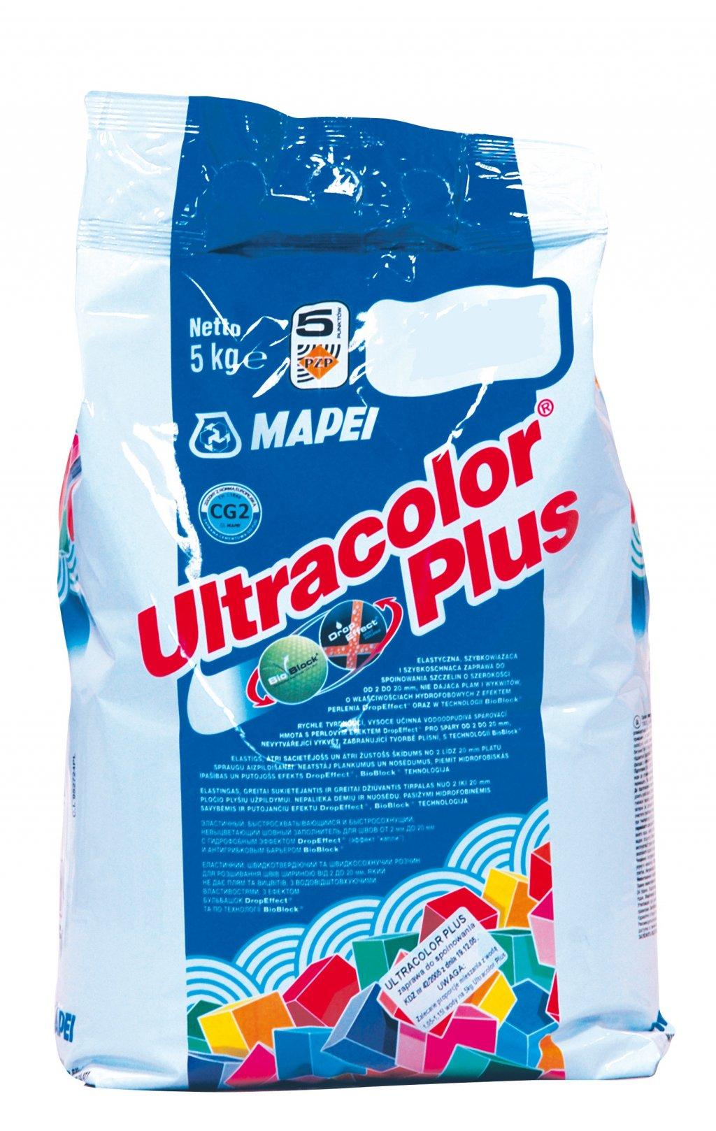 ULTRACOLOR PLUS 111 Mapei hydrofobní spárovací tmel STŘÍBROŠEDÁ, 5 kg 0