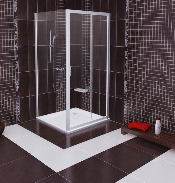 Pevná sprchová stěna BLPS-80 Transparent Ravak BLIX, bílá