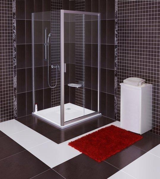 Pevná sprchová stěna BLPS-80 Transparent Ravak BLIX, satin 2