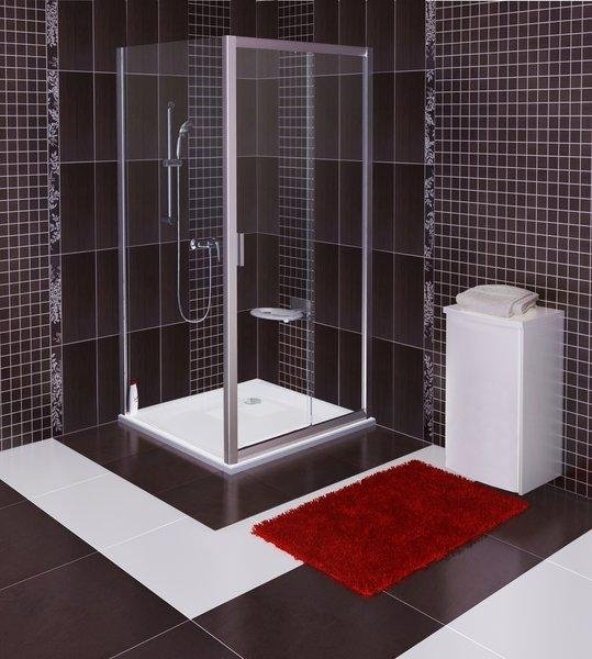 Pevná sprchová stěna BLPS-100 Transparent Ravak BLIX, lesklá 2