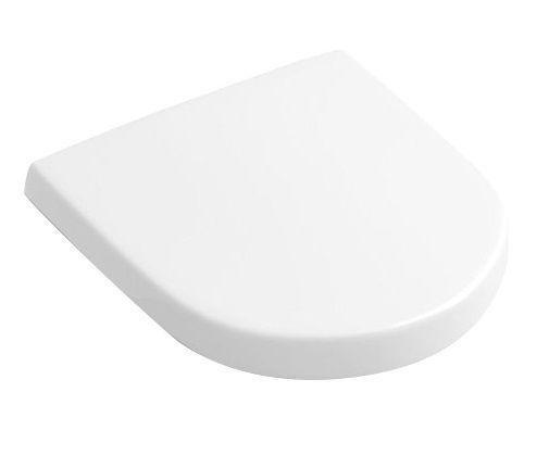 V&B Subway 2.0, Klozetové sedátko s poklopem, závesy z ušlechtilé oceli, Star White Ceramicplus 1