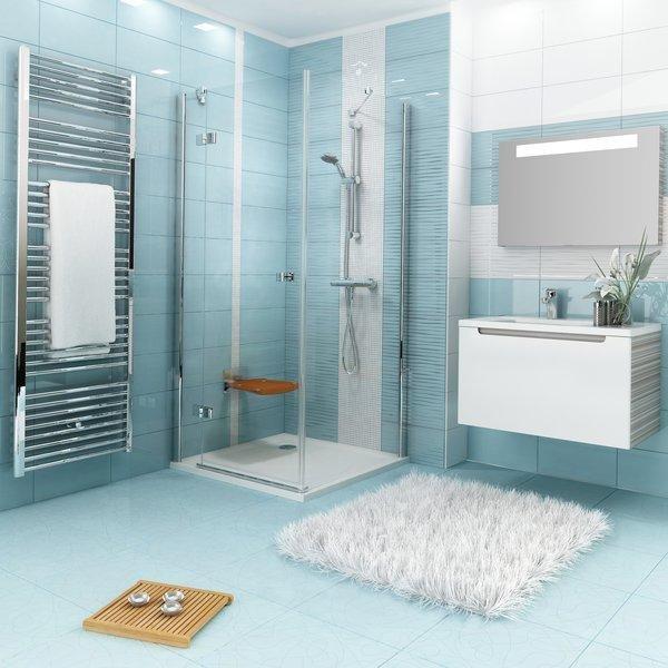 Pevná sprchová stěna pravá SMPS-100 R Transparent Ravak SMARTLine, chrom 3