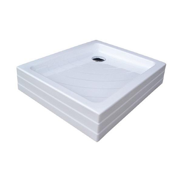 Sprchová vanička ANETA 75 x 90 PU Ravak KASKADA, bílá 1