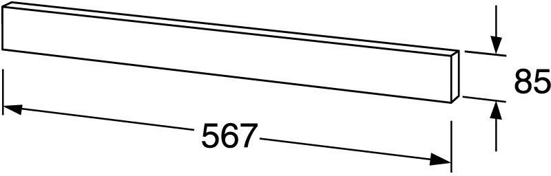 Dekorativní panel pro umyvadlovou skříňku Gustavsberg NAUTIC62, hliník 1