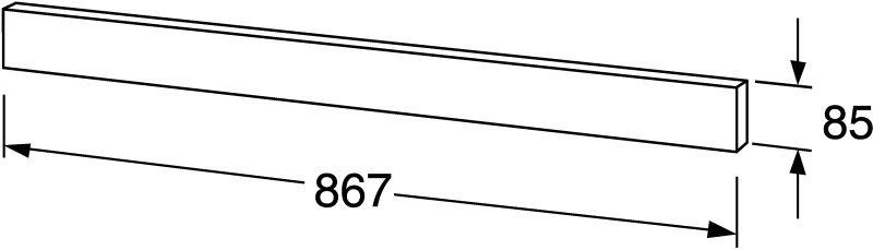 Dekorativní panel pro umyvadlovou skříňku Gustavsberg NAUTIC92, hliník 1