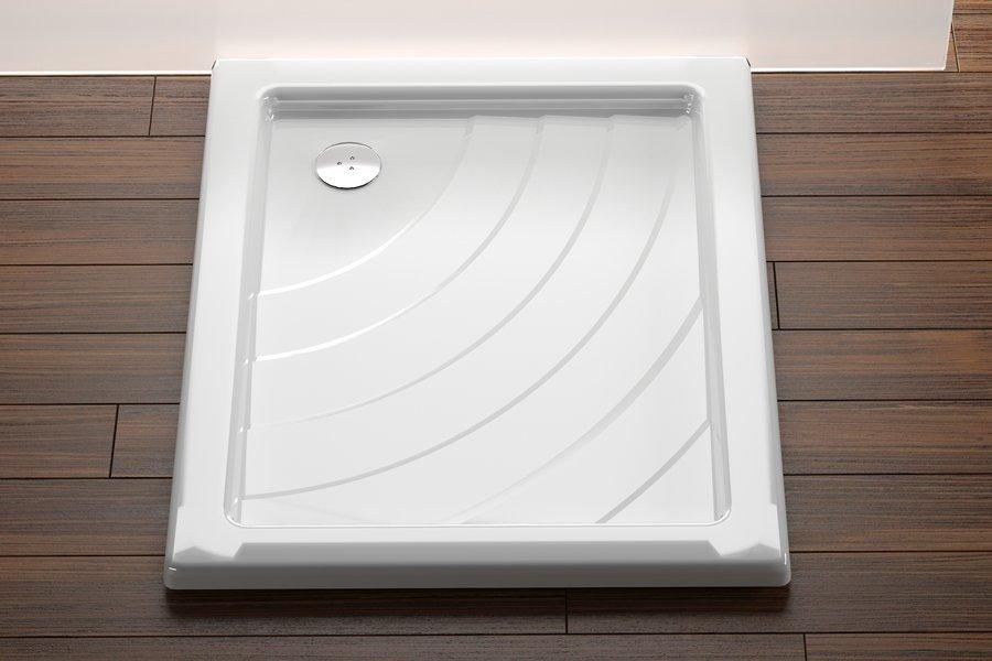 Sprchová vanička ANETA 75 x 90 PU Ravak KASKADA, bílá 0
