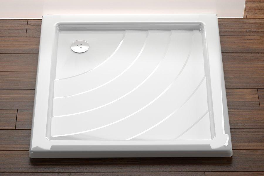Sprchová vanička ANGELA-90 PU Ravak KASKADA, bílá 0