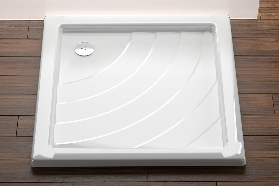 Sprchová vanička ANGELA-90 LA Ravak KASKADA, bílá 0