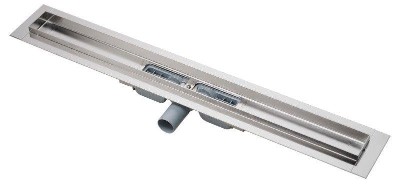 Podlahový žlab nerez APZ106-1150 AlcaPlast snížený, 1200 mm, s okrajem 1