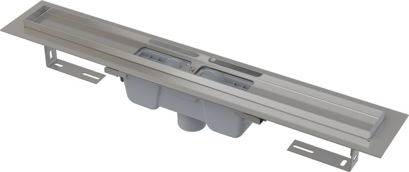 Podlahový žlab AlcaPlast APZ1001 s okrajem, pro perforovaný rošt, svislý odtok 0