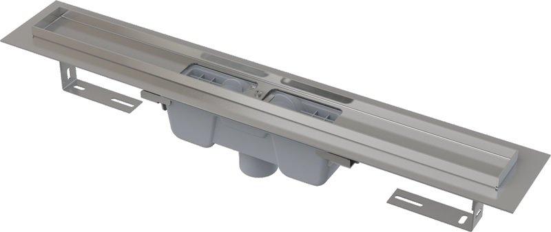 Podlahový žlab AlcaPlast APZ1001-650 s okrajem, pro perforovaný rošt, svislý odtok 0