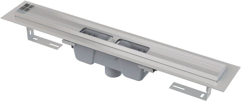 Podlahový žlab AlcaPlast APZ1001-1150 s okrajem, pro perforovaný rošt, svislý odtok 1