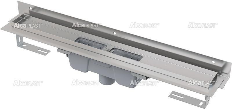 Podlahový žlab AlcaPlast FLEXIBLE APZ1004-750 s okrajem, s límcem, svislý odtok 1