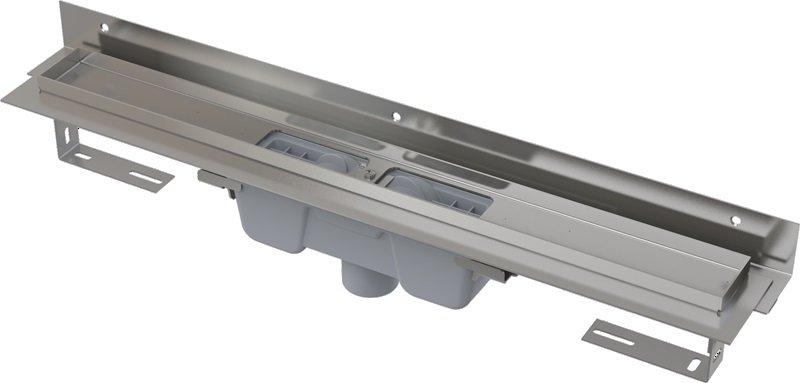 Podlahový žlab AlcaPlast FLEXIBLE APZ1004-1150 s okrajem, s límcem, svislý odtok 0