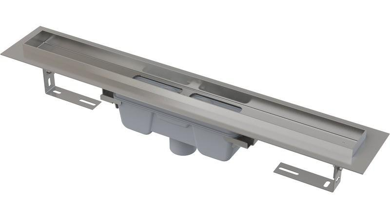 Podlahový žlab AlcaPlast PROFESSIONAL APZ1006-750 s okrajem, pro plný rošt, svislý odtok