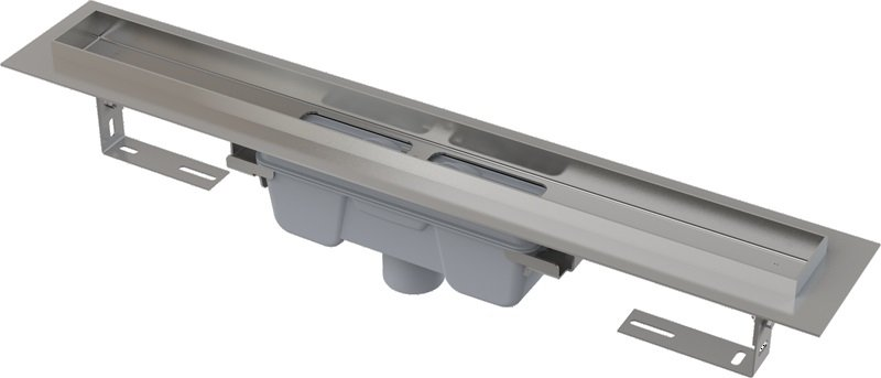 Podlahový žlab AlcaPlast PROFESSIONAL APZ1006-300 s okrajem, pro plný rošt, svislý odtok 0