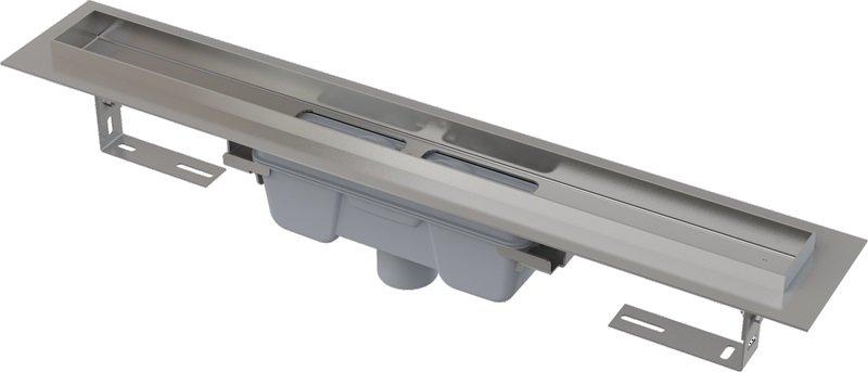 Podlahový žlab AlcaPlast PROFESSIONAL APZ1006-650 s okrajem, pro plný rošt, svislý odtok 0