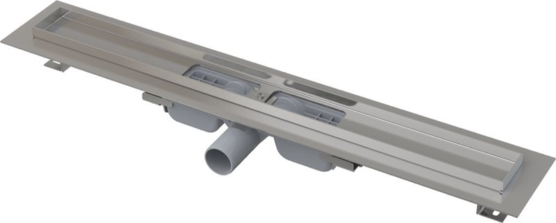 APZ101-850 Podlahový nerezový žlab snížený AlcaPlast s okrajem 0