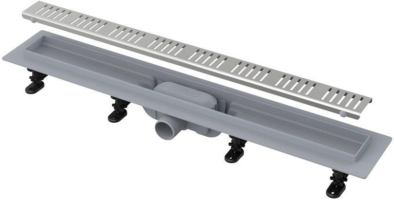 APZ10-650 Simple podlahový plastový žlab AlcaPlast 700 mm 0