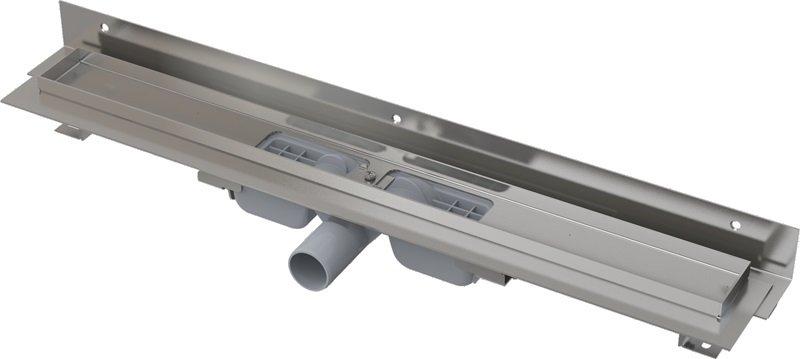 Podlahový nerezový žlab APZ104 Flexible Low AlcaPlast pod libovolný obklad 0