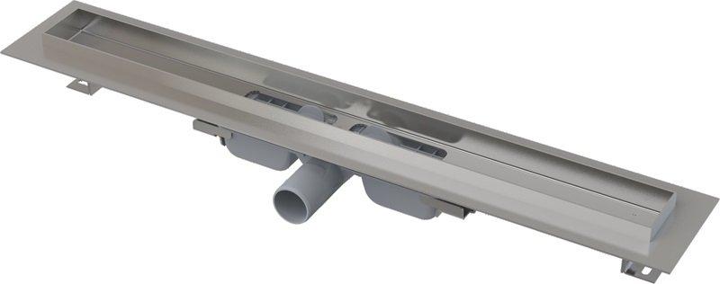 Podlahový žlab nerez APZ106-650 AlcaPlast snížený, 700 mm, s okrajem 0