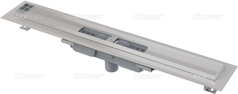 Podlahový žlab APZ1101-1050 LOW AlcaPlast, okraj pro perf. rošt, svislý odtok 1