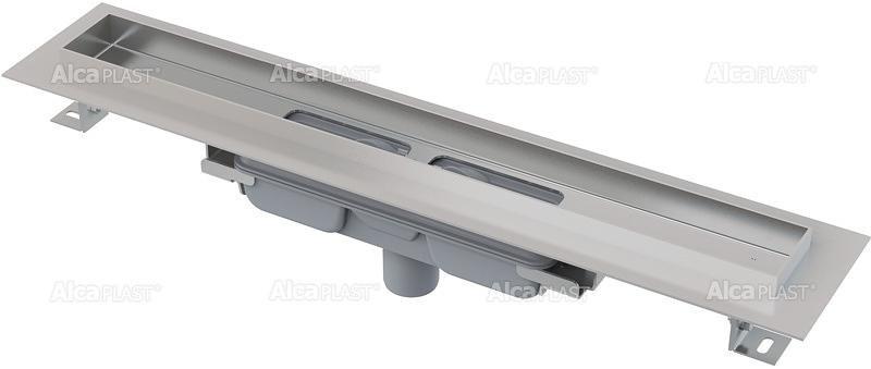 Podlahový žlab APZ1106-300 PROFESSIONAL LOW AlcaPlast, okraj pro plný rošt, svislý odtok 1