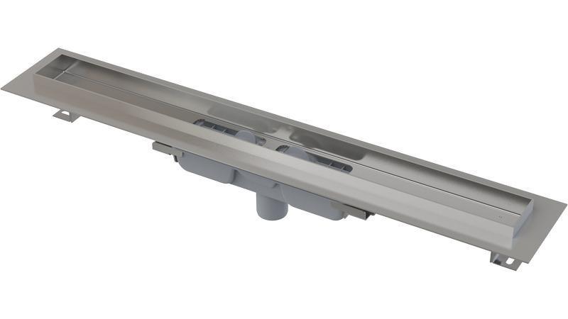 Podlahový žlab APZ1106-850 PROFESSIONAL LOW AlcaPlast, okraj pro plný rošt, svislý odtok 1