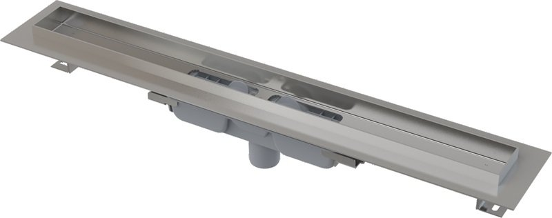 Podlahový žlab APZ1106-1050 PROFESSIONAL LOW AlcaPlast, okraj pro plný rošt, svislý odtok 0