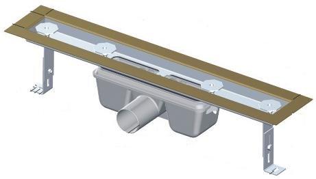 APZ3-FLOOR-750 podlahový nerezový žlab AlcaPlast 800 mm pro vložení dlažby 0