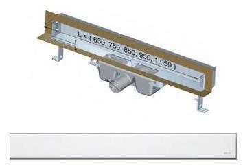 APZ5-EDEN-1050 podlahový nerezový žlab AlcaPlast SPA kryt EDEN 1100 mm bez okraje, lesk 1