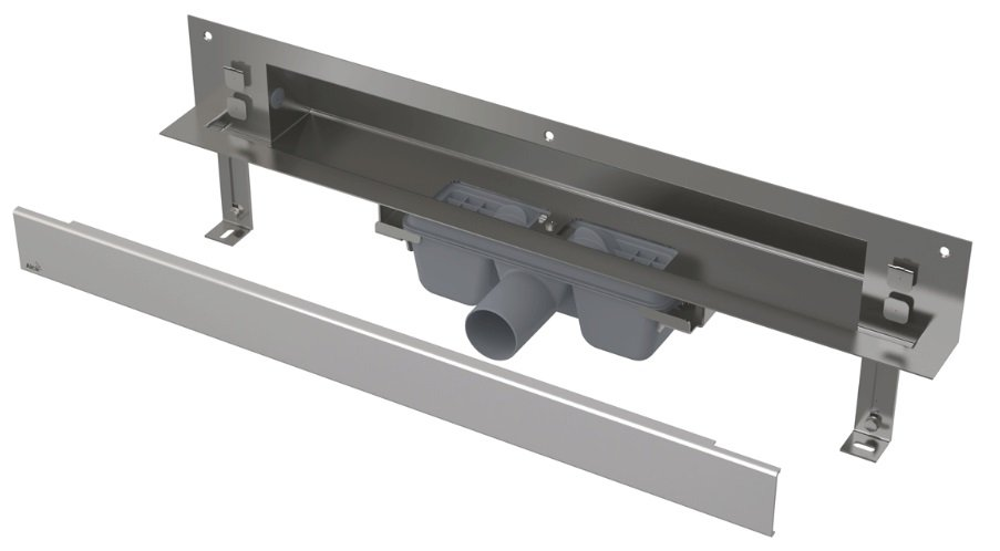 APZ5-EDEN-1050 podlahový nerezový žlab AlcaPlast SPA kryt EDEN 1100 mm bez okraje, lesk 0